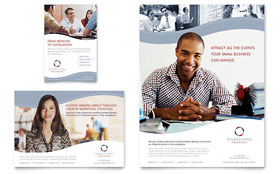 Marketing Consulting Group - Flyer & Ad Template Design Sample