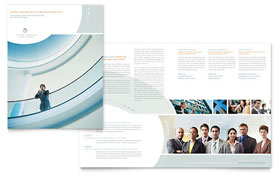 Business Consulting - Brochure Template Design Sample