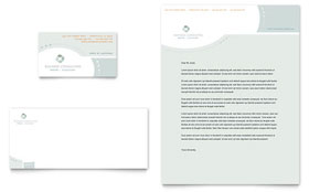 Business Consulting - Business Card & Letterhead Template Design Sample