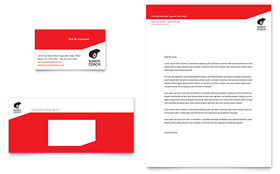 Business Executive Coach - Business Card & Letterhead Template Design Sample