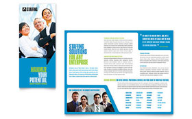 Staffing & Recruitment Agency - Apple iWork Pages Brochure Template