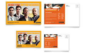 Staffing & Recruitment Agency - Postcard Sample Template