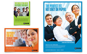 Staffing & Recruitment Agency - Flyer & Ad Template Design Sample