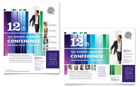 Business Leadership Conference - Poster Template Design Sample