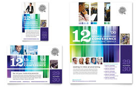 Business Leadership Conference - Flyer & Ad Template Design Sample