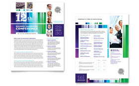 Business Leadership Conference - Datasheet Template