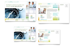 Business Solutions Consultant - Postcard Template Design Sample