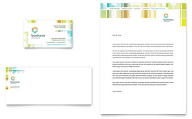 Business Solutions Consultant - Business Card & Letterhead Template Design Sample