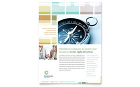 Business Solutions Consultant - Flyer Template