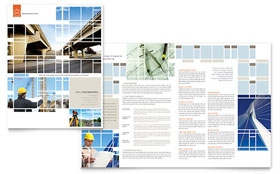 Civil Engineers - Print Design Brochure Template