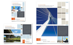 Civil Engineers - Leaflet Template