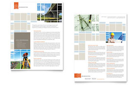 Civil Engineers - Sales Sheet Template