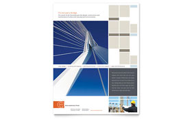 Civil Engineers - Flyer Sample Template