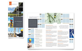 Civil Engineers - Apple iWork Pages Tri Fold Brochure Template
