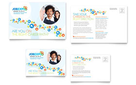 Job Expo & Career Fair - Postcard Template Design Sample