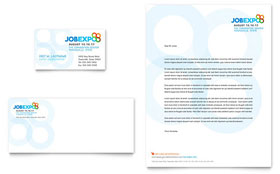 Job Expo & Career Fair - Business Card & Letterhead Template Design Sample