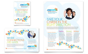 Job Expo & Career Fair - Flyer & Ad Template Design Sample