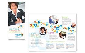 Job Expo & Career Fair - Adobe Illustrator Tri Fold Brochure Template