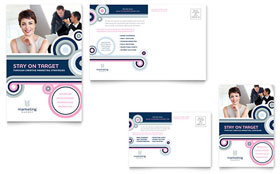 Marketing Agency - Postcard Template Design Sample