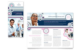 Marketing Agency - Microsoft Publisher Tri Fold Brochure Template
