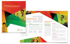 Public Relations Company - Brochure Template Design Sample
