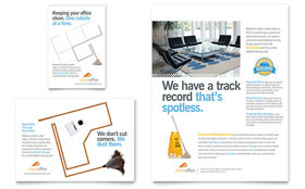 Janitorial & Office Cleaning - Flyer & Ad Template
