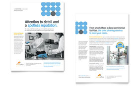 Janitorial & Office Cleaning - Datasheet Template