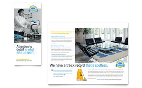 Janitorial & Office Cleaning - Tri Fold Brochure Sample Template