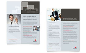 Corporate Business - Datasheet Template Design Sample