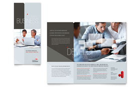 Corporate Business - Tri Fold Brochure Template Design Sample