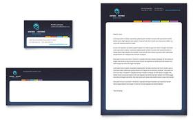 Secretarial Services - Business Card & Letterhead Template