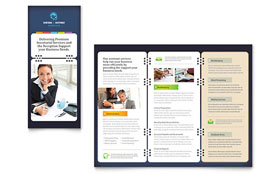 Secretarial Services - Tri Fold Brochure Template Design Sample