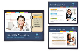 Secretarial Services - PowerPoint Presentation Template Design Sample