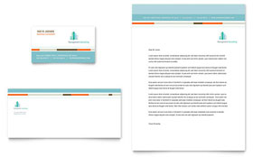 Management Consulting - Business Card & Letterhead Template Design Sample