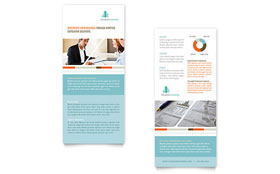 Management Consulting - Rack Card Template Design Sample