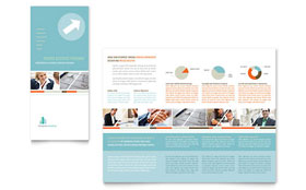 Management Consulting - Apple iWork Pages Tri Fold Brochure Template