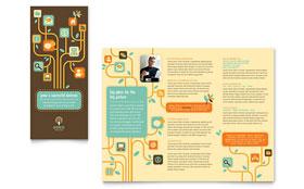 Business Services - Print Design Tri Fold Brochure Template