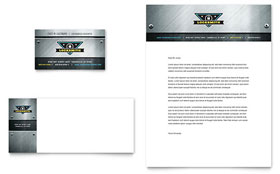 Locksmith - Business Card & Letterhead Template