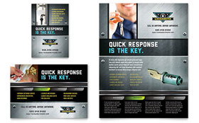 Locksmith - Flyer & Ad Template Design Sample