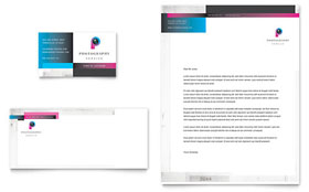 Photography Business - Business Card & Letterhead Template Design Sample
