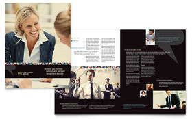 Human Resource Management - Microsoft Word Brochure Template