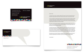 Human Resource Management - Business Card & Letterhead Template Design Sample
