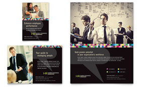 Human Resource Management - Leaflet Template Design Sample