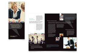 Human Resource Management - Adobe Illustrator Tri Fold Brochure Template