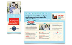 Laundry Services - Pamphlet Template Design Sample