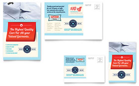 Laundry Services - Postcard Template Design Sample