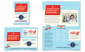 Laundry Services - Leaflet Template Design Sample