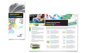 Printing Company - Tri Fold Brochure Template Design Sample