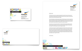 Printing Company - Business Card & Letterhead Template Design Sample