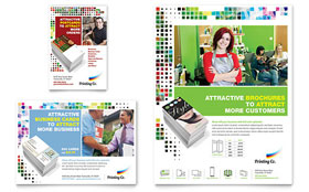 Printing Company - Leaflet Template Design Sample